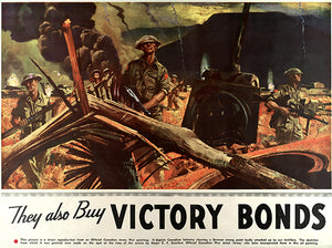 They Also Buy - Victory Bonds - 1944 - World War II – Propaganda Magnet