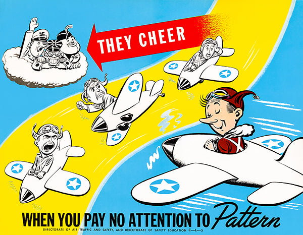 They Cheer - Air Traffic And Safety - 1942 - World War II - Propaganda Magnet