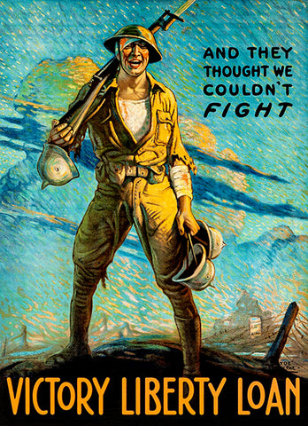 They Thought We Couldn't - Liberty Loan - 1919 - World War I - Propaganda Poster