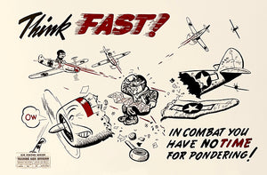 Think Fast - 1944 - Training Aids Aviation Magnet