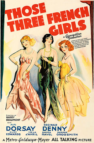 Those Three French Girls - 1930 - Movie Poster Magnet