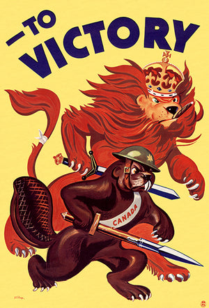 To Victory - 1940s - World War II - Propaganda Poster