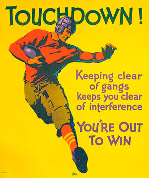 Touchdown - Out To Win - 1929 - Motivational Poster