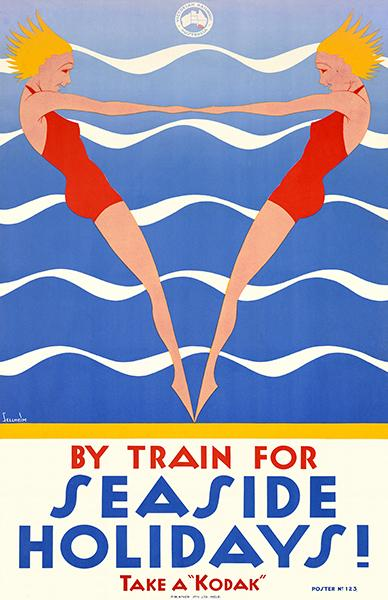 Train For Seaside Holidays! Kodak - Victorian Railway - 1930's - Travel  Poster Magnet
