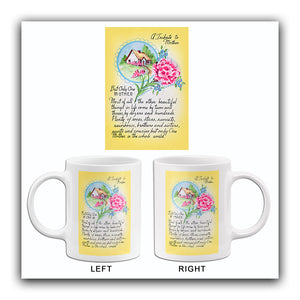 Tribute To Mother - Mother's Day - 1928 - Mug
