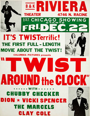 Twist Around The Clock - 1961 - Chubby Checker - Movie Poster Magnet