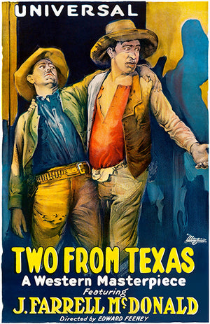 Two From Texas - 1920 - Movie Poster Magnet