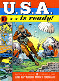 USA Is Ready - Army Navy Air Force Marines Coast Guard - 1941 - Comic Book Cover Poster