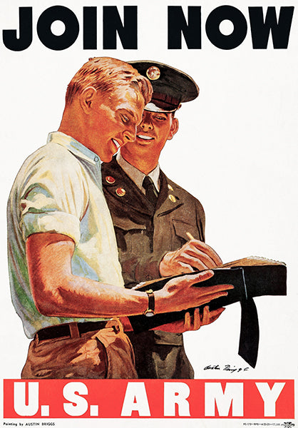 US Army - Join Now - 1951 - Recruitment Poster