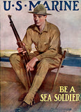 US Marine - Be A Sea Soldier - 1918 - World War II - Recruitment Poster