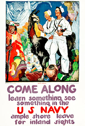 US Navy - Learn See Something - 1919 - World War I - Recruitment Poster