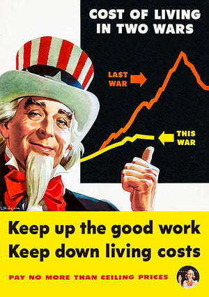 Uncle Sam - Keep Up The Good Work - 1944 - World War II - Propaganda Poster