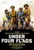 Under Four Flags - 1918 - World War I - Propaganda Film Poster