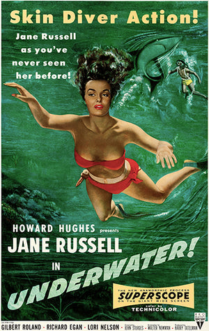Underwater! - 1955 - Movie Poster Magnet