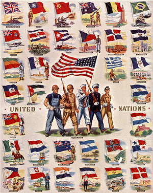 United Nations - 1942 - World War II - Patriotic Poster