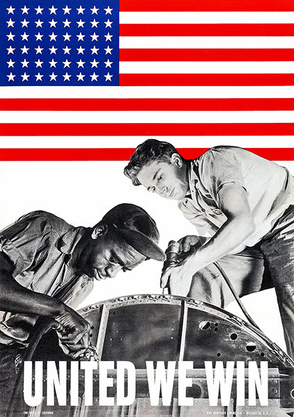 United We Win - 1942 - World War II - Propaganda Poster