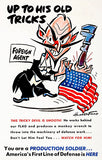 Up To His Old Tricks - US Flag - 1941 - World War II - Propaganda Poster