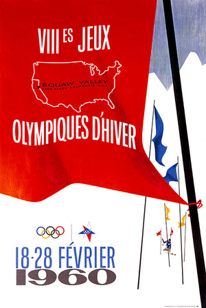 VIII Games Winter Olympic - Squaw Valley, Lake Tahoe, California - 1960 - Advertising Poster