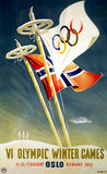 VI Olympic Winter Games - Oslo, Norway - 1952 - Advertising Poster