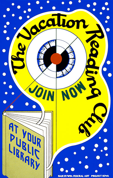 Vacation Reading Club - Public Library Books - 1939 - WPA Poster