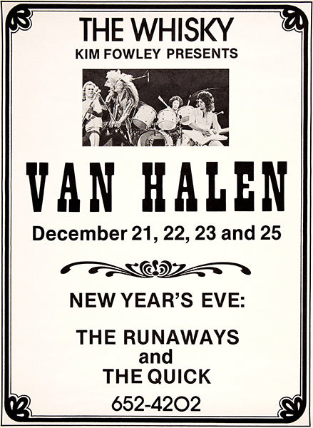 Van Halen - The Runaways - 1977 - The Whiskey - Concert Poster