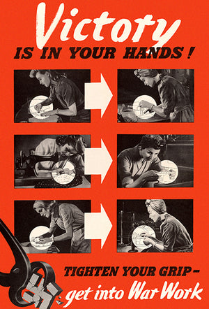 Victory Is In Your Hands! - 1940's - World War II - Propaganda Magnet
