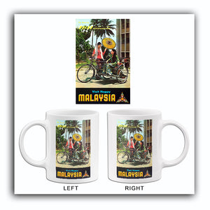 Visit Happy Malaysia - Thai International - 1964 - Travel Poster Mug