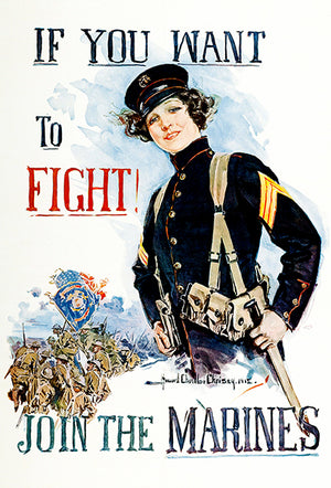 Want To Fight - Join The Marines - 1915 - World War I - Recruitment Poster
