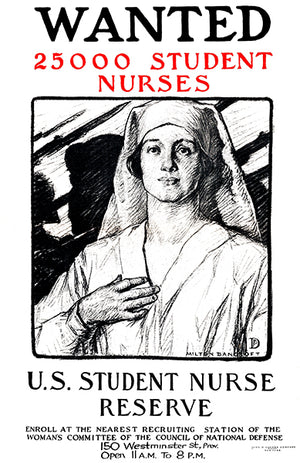 Wanted Student Nurses - 1917 - World War I - Propaganda Poster
