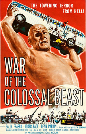 War Of The Colossal Beast - 1958 - Movie Poster Magnet