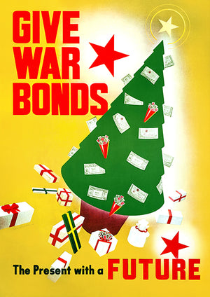 War Bonds - Present Future Christmas - 1943 - World War II - Propaganda Poster