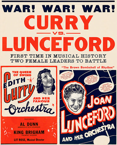 War War War - Edith Curry vs Joan Lunceford - 1940 - Concert Poster
