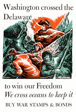 Washington Crossed The Delaware - 1944 - World War II - Propaganda Magnet