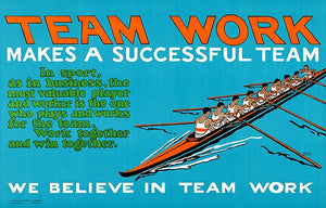 We Believe In Team Work - Success - 1923 - Motivational Magnet