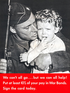 We Can't All Go - 1942 - World War II - Propaganda Poster
