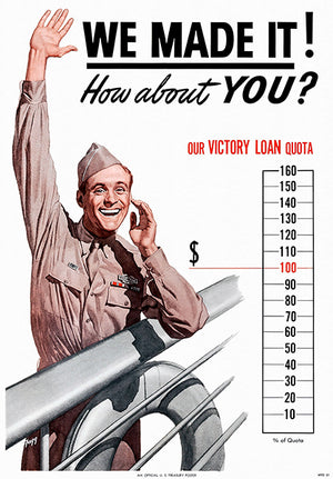 We Made It - Victory Loan - 1944 - World War II - Propaganda Magnet