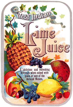 West Indian Lime Juice - Fruit Advertising Magnet