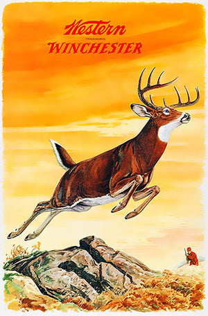 Western Winchester Firearms - Buck - 1955 - Promotional Advertising Poster