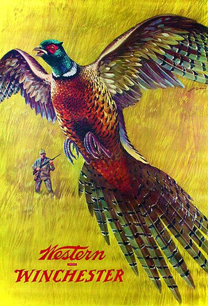 Western Winchester - Pheasant - 1955 - Promotional Advertising Magnet