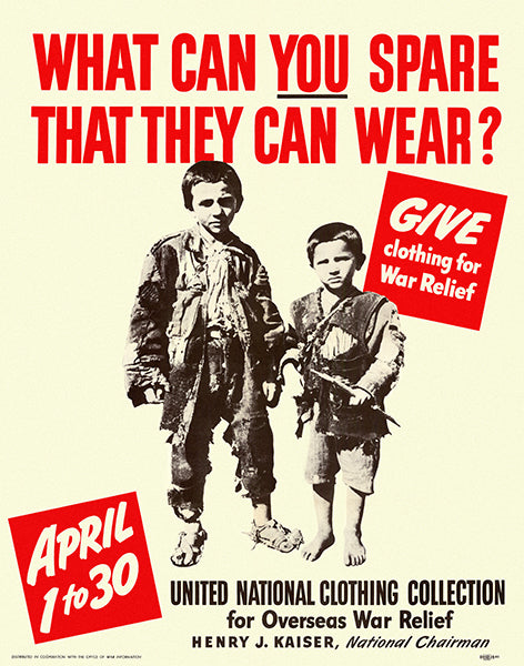 What Can You Spare That They Can Wear - 1942 - World War II - Propaganda Poster