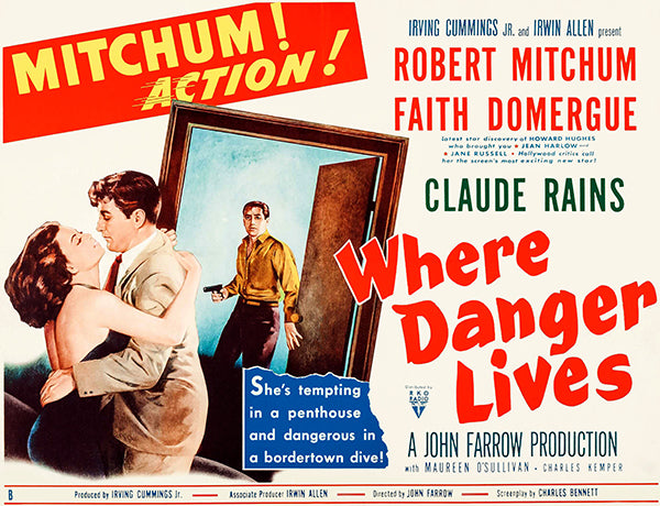 Where Danger Lives - 1950 - Movie Poster