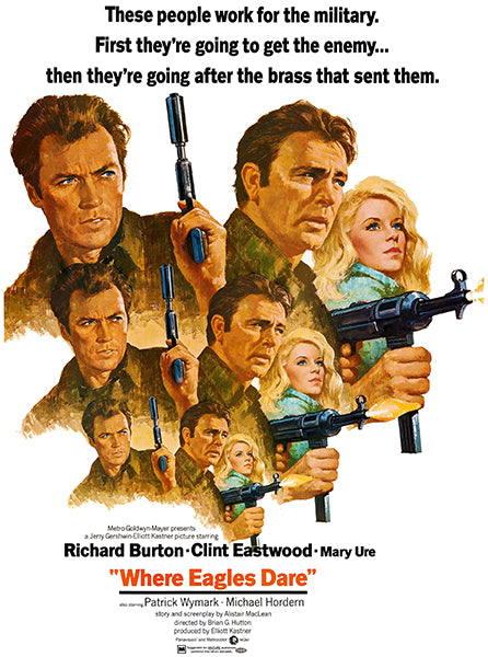Where Eagles Dare - 1968 - Movie Poster