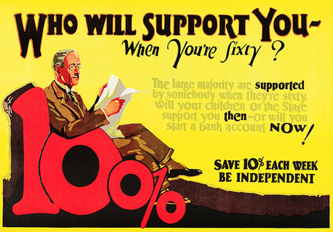 Who Will Support You - Be Independent -1923 - Motivational Poster