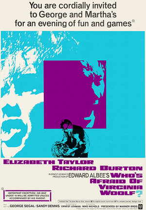 Who's Afraid Of Virginia Woolf - 1966 - Movie Poster
