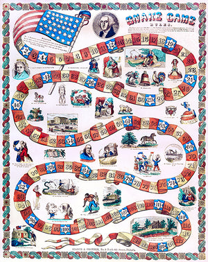 William Henry Harrison And Runaway Slave - Snake Game - 1840 - Advertising Magnet