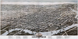 Wilmington, Delaware - 1874 - Aerial Bird's Eye View Map Poster