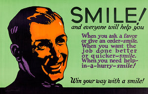 Win Your Way With A Smile! - 1923 - Motivational Poster