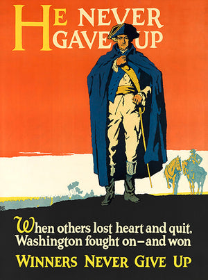 Winners Never Give Up - 1929 - Work Motivational Poster