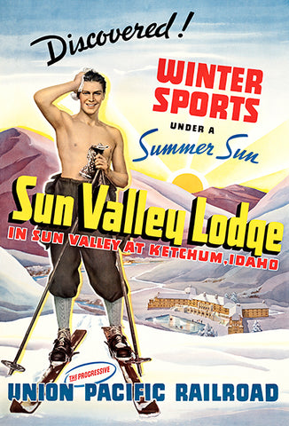 Winter Sports - Sun Valley - Ketchum, Idaho - 1930's - Travel Poster