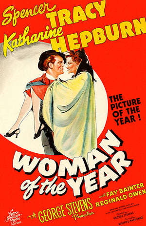 Woman Of The Year - 1942 - Movie Poster Magnet
